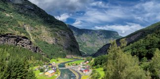 Norwegian valleys from the windows of the Flam Railway,