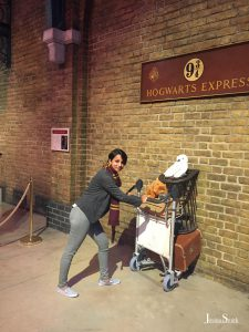 Platform 9 3/4 at the Harry Potter studio tour in Leavesdern