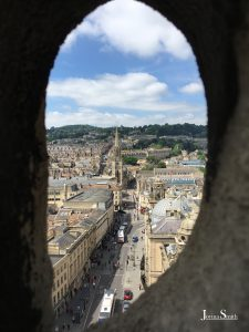A view of the city of Bath from atop of the Bath Abbey, Travelling to England