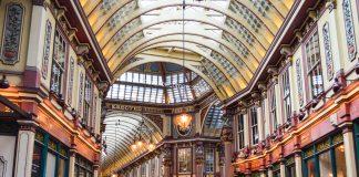 Harry Potter tour Diagon Alley - Leadenhall Market in London, UK
