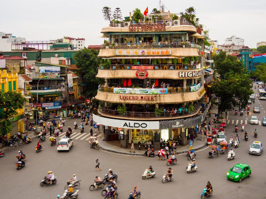 View of the traffic in Hanoi, Vietnam