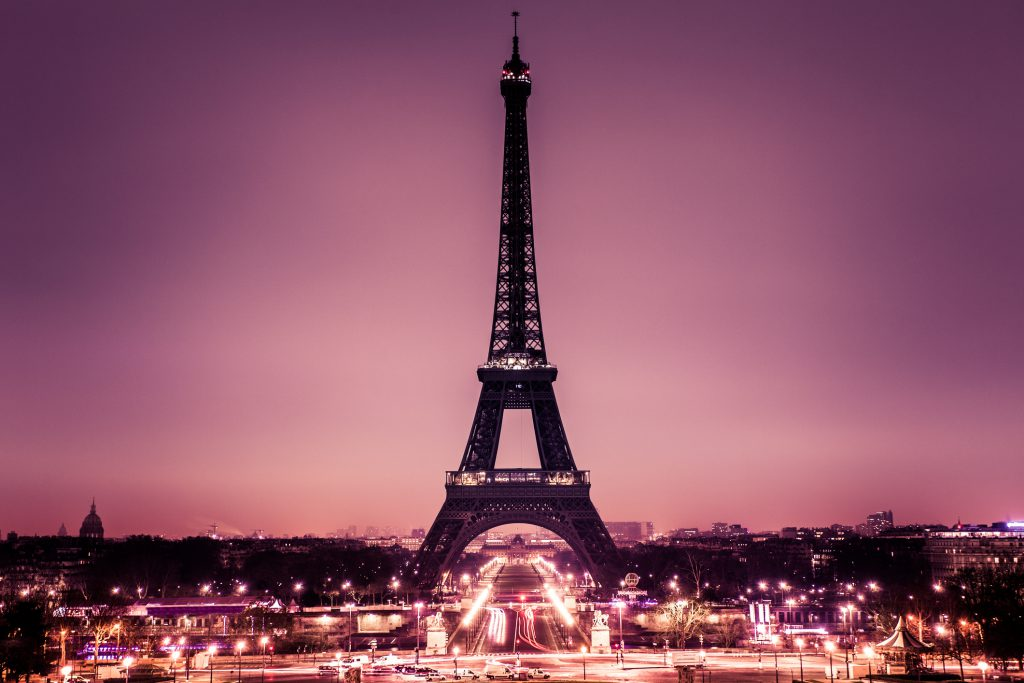Eiffel Tower in Paris, honeymoon destinations