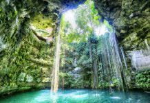 Cenote Ik Kil in the Yucatan of Mexico, Yucatan Peninsula
