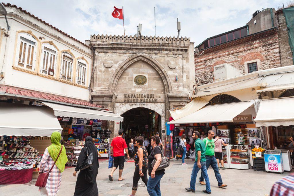 Istanbul city, Grand Bazaar entrance