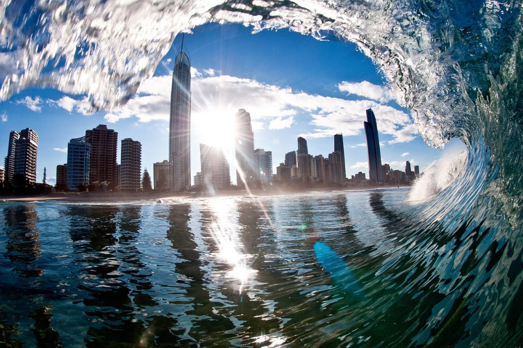 Surfers Paradise beach on Queensland's Gold Coast