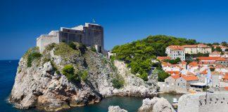 Fort Lovrijenac in Dubrovnik, South Dalmatia in Croatia, travelling to croatia