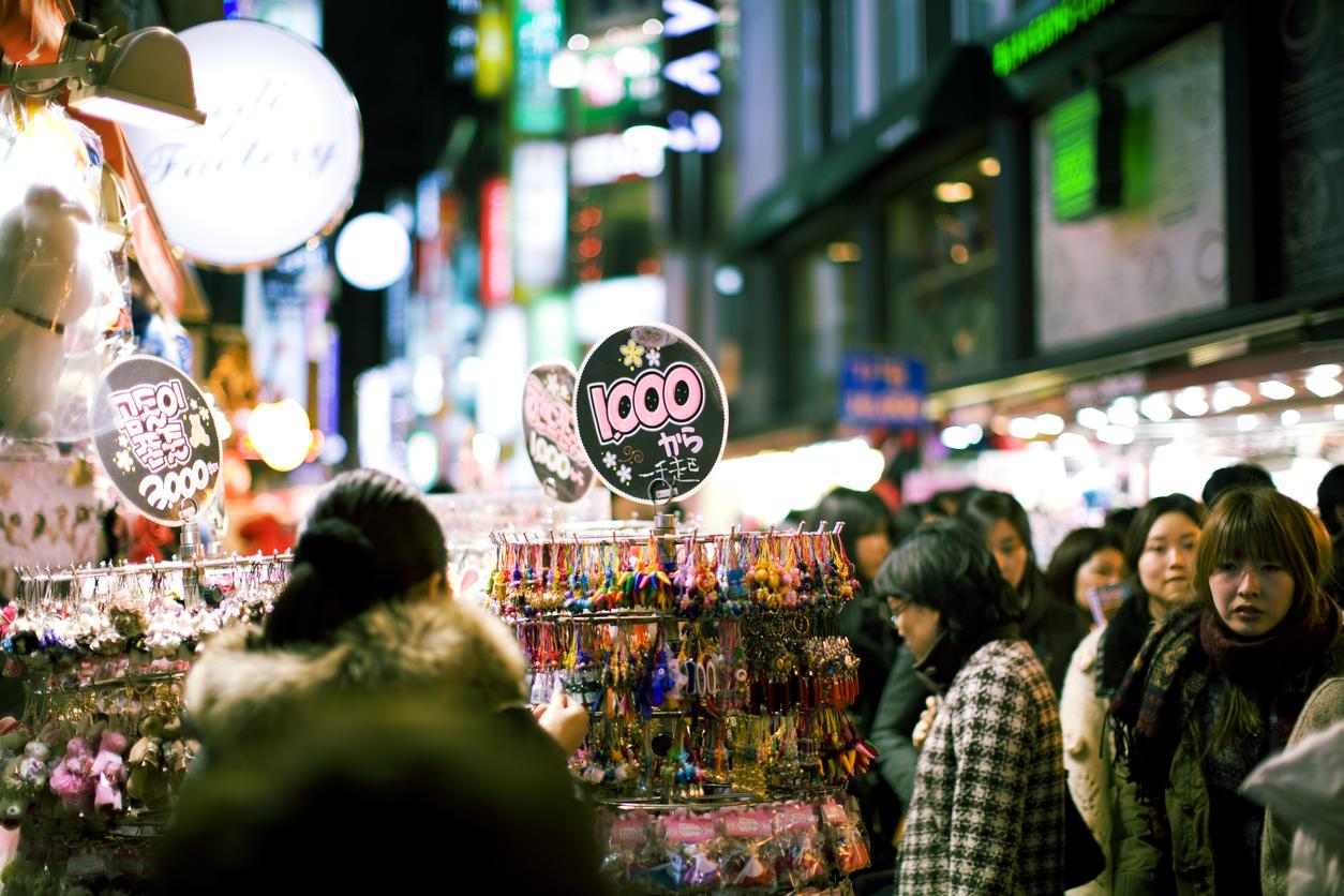 Seoul, Korea - Myeongdong street - shopping in Seoul