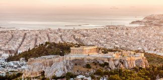 City of Athens with famous Acropolis.