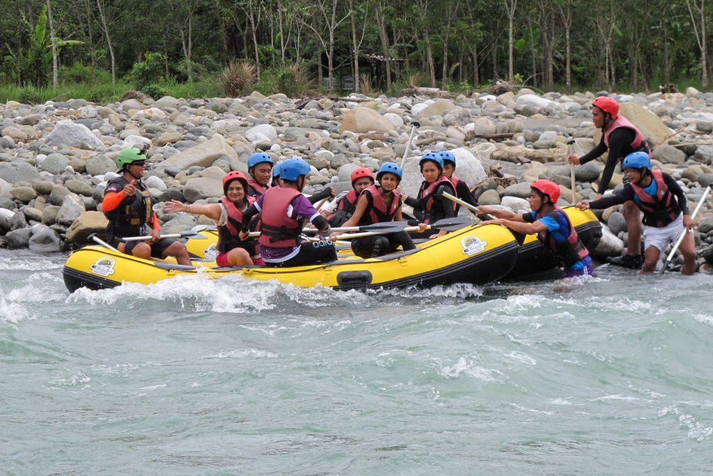 White water rafting in Kedaiman, Sabah