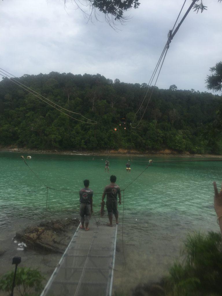 Ziplining at the Coral Flyer, Sabah