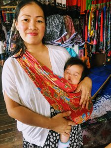 Local Sabahan Woman with a baby