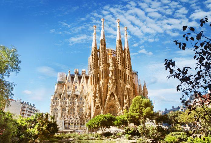 Sagrada Familia Cathedral in Barcelona, Spain, Churches