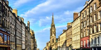 Edinburgh's Royal Mile, in a rare empty moment. things to see in edinburgh