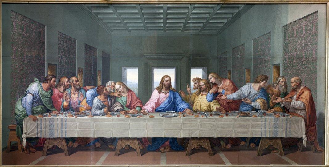 Mosaic of Last supper by Leonardo Da Vinci