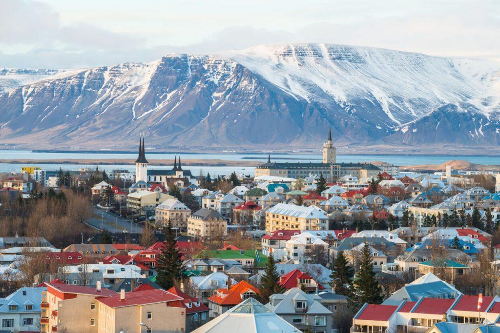 Cityscape of Reykjavík, Iceland