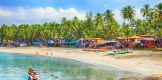 Beautiful Goa province beach in India places to visit in Goa