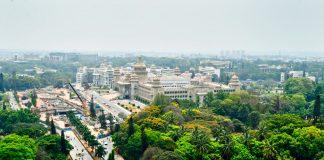 Aerial view of Vidhan soudha, Bengaluru