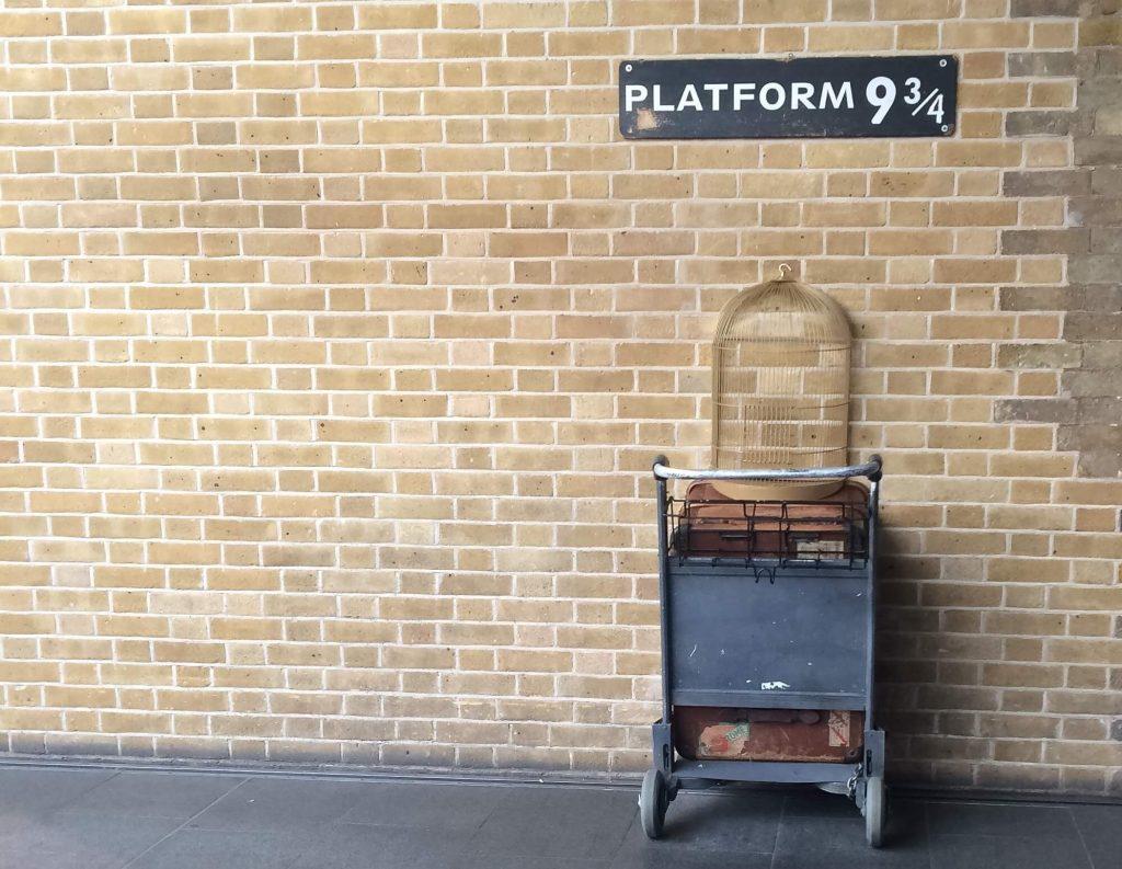 Platform 9 3/4 at King's Cross Station, London