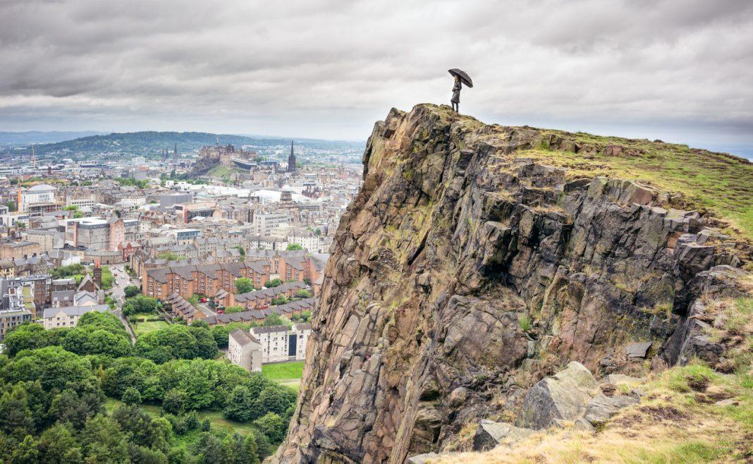 Looking over Edinburgh Arthur's Seat