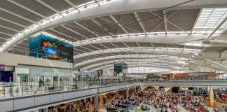 Busy Heathrow airport