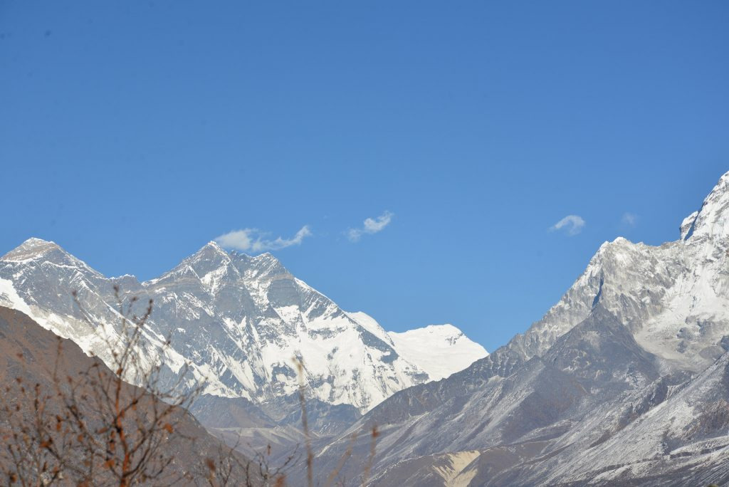 Snow-capped peaks of the Himalayas - everest base camp
