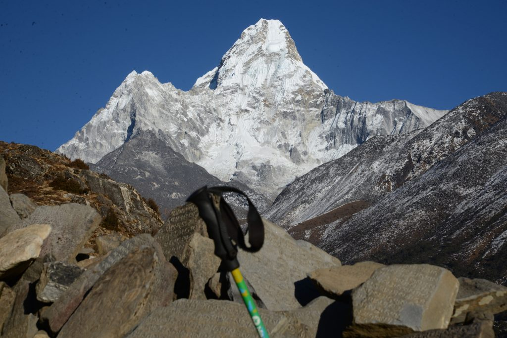A peak of Mount Everest's summit - Everest base camp