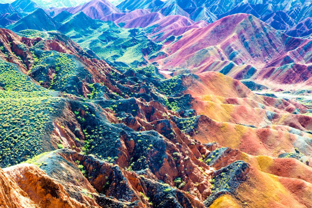 Rainbow mountain zhangye national park