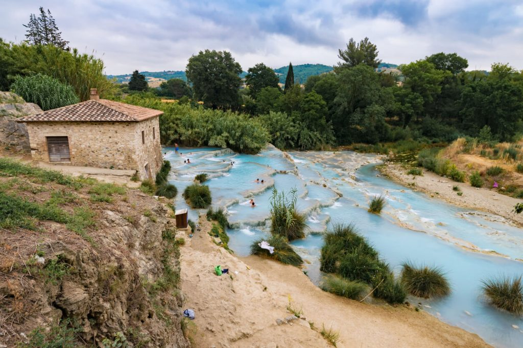 Natural spa with waterfalls in Saturnia Italy