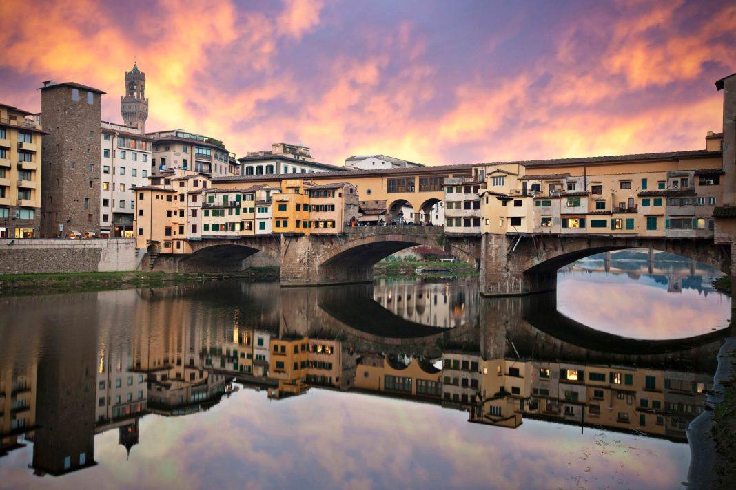 Ponte Vecchio Bridge at sunset