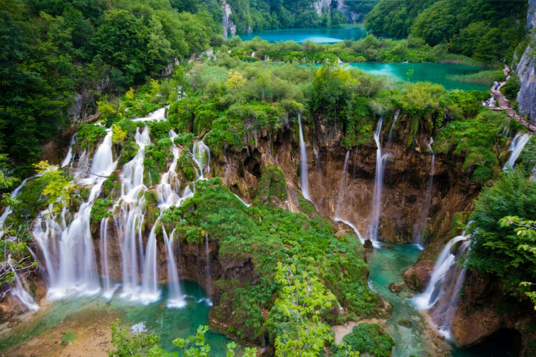 Pltivice falls in Croatia is among the best waterfalls in the world