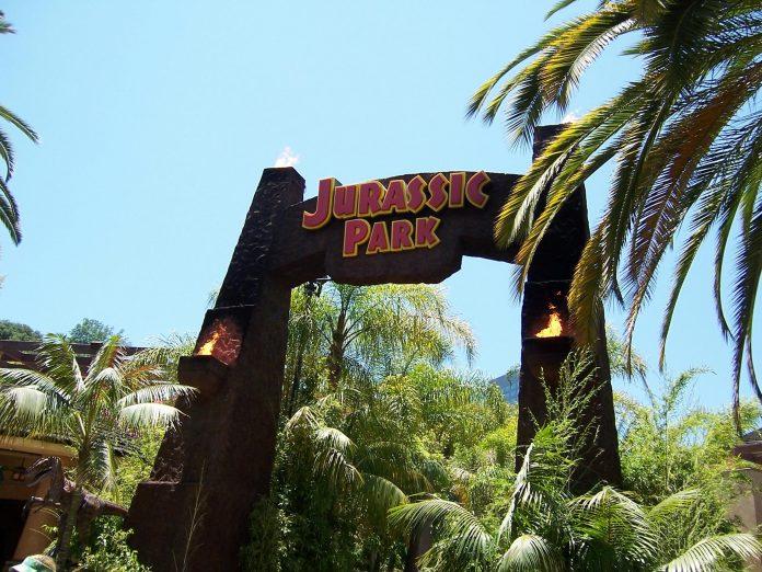 Jurassic Park ride at Universal Studios