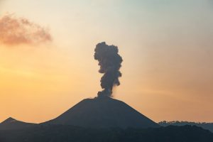 active volcano in India on Barren Island, Andaman Islands