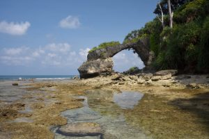 The Natural Rock formations on Neil Island, Andaman