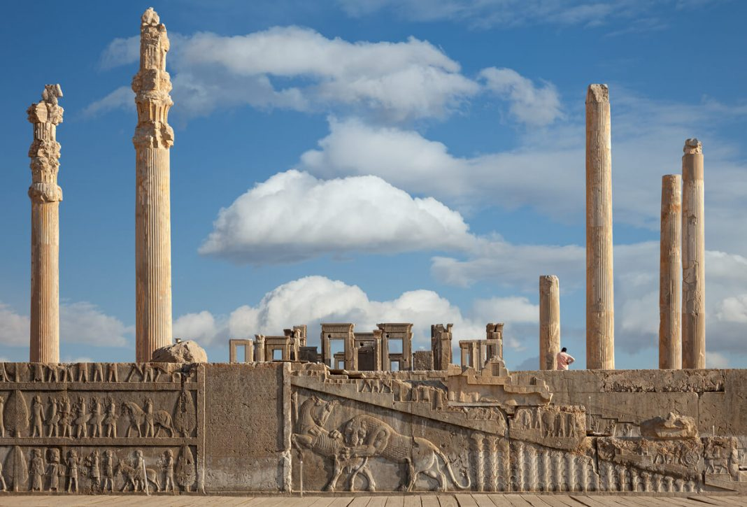 The ruins of the ancient city of Persepolis