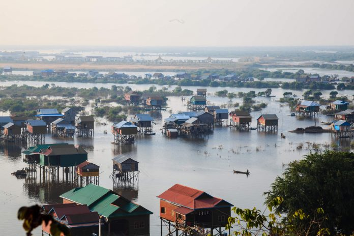 Houses in Tonle Sap, Cambodia