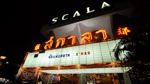 Scala cinema entrance - unusual things to do in Bangkok