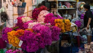 Flowers on display - unusual things to do in Bangkok