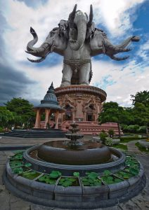 The 3 headed elephant of the Erawan Museum - unusual things to do in Bangkok