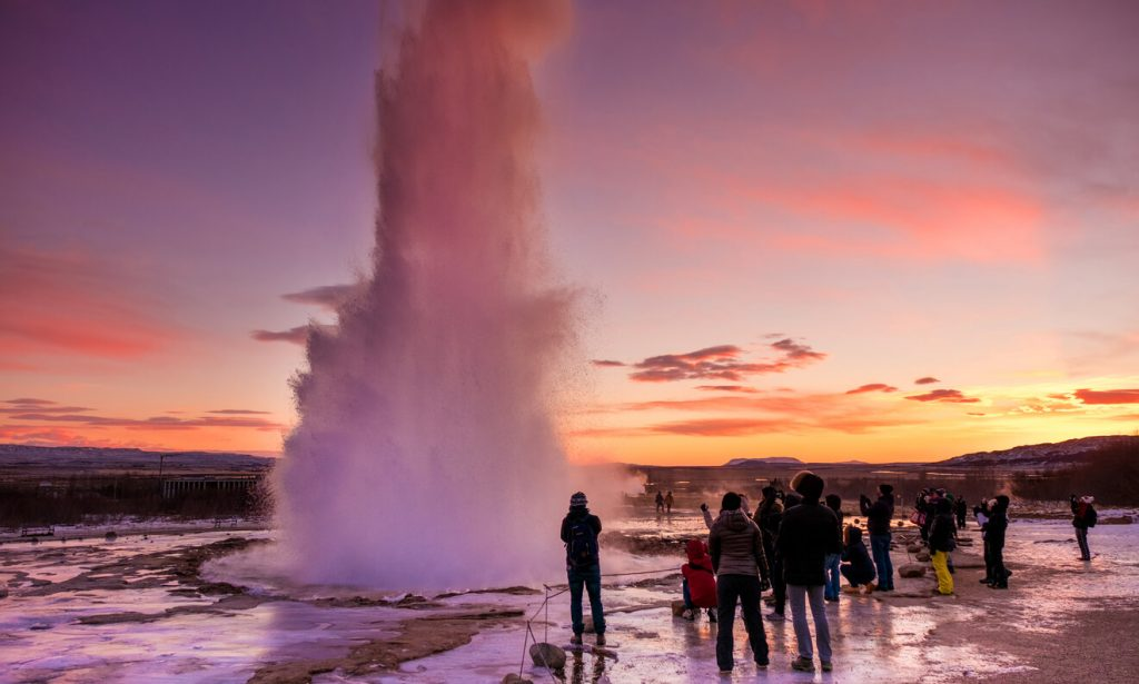 Strokkur Geysir, Iceland natural phenomenon