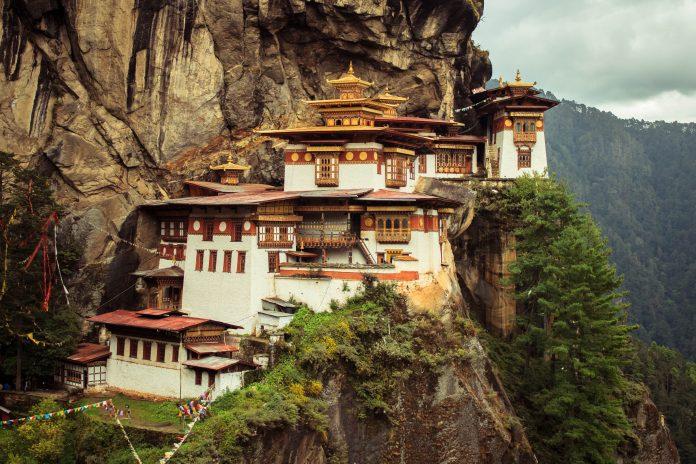 Taktsang monastery (tiger's nest), Paro,Bhutan