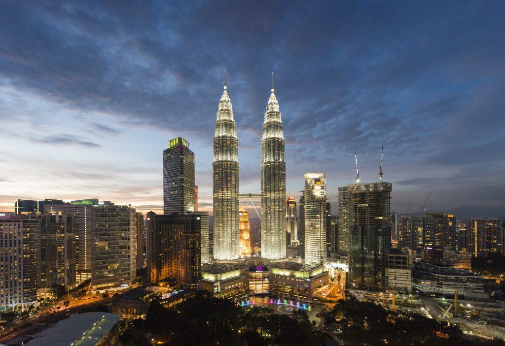 Skyline in the city of Kuala Lumpur, Malaysia