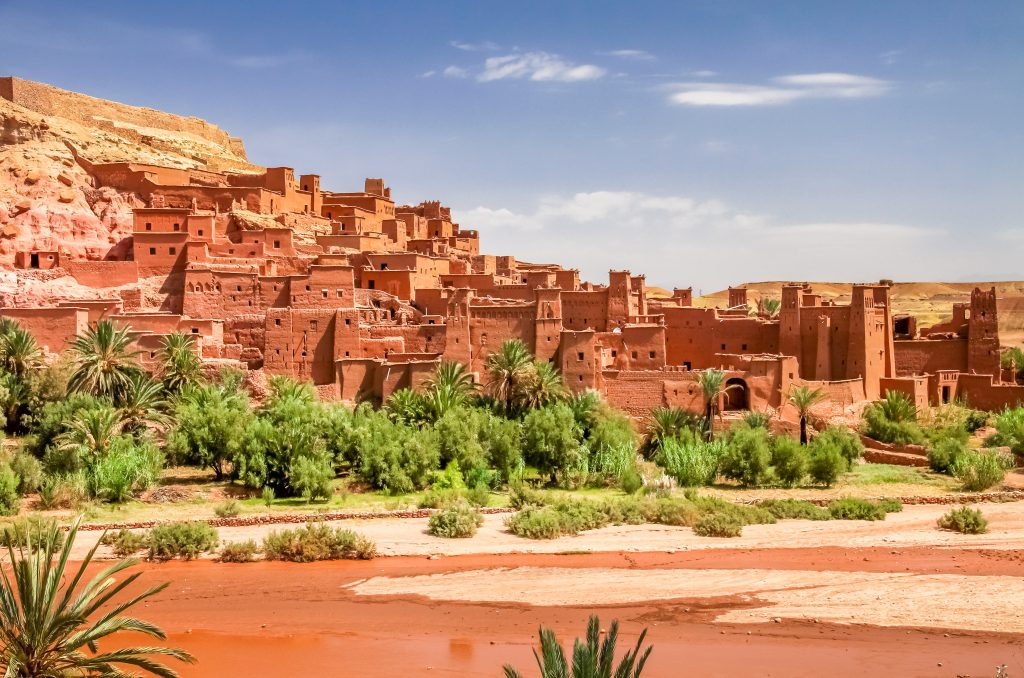 Ait Benhaddou, an ancient fortress city in Morocco