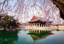 Gyeonghoeru Pavilion in Gyeongbokgung Palace, Seoul, Korea