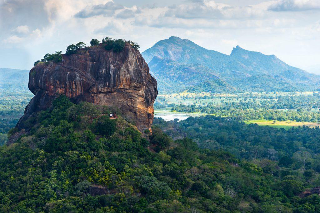 Sigiriya Lion Rock fortress and landscape in Sri Lanka