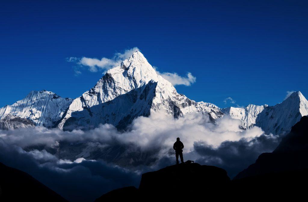 Climber in Mount Everest, Himalayan
