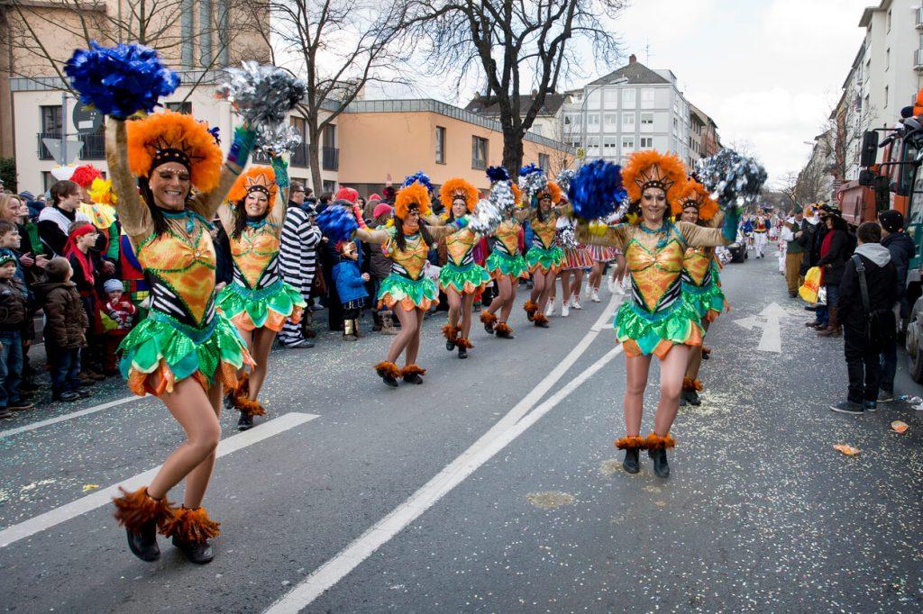 Celebration of German Karneval, fasching or fastnacht