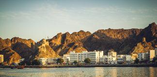 sundown in Matrah, old muscat, Oman