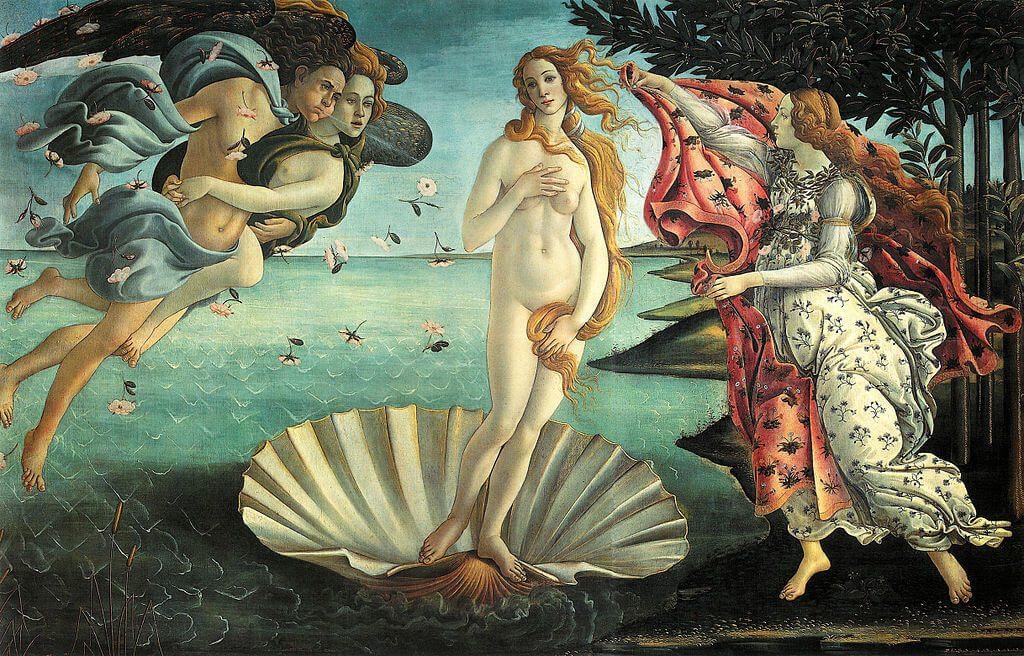 The birth of venus - botticelli - ufizzi florence
