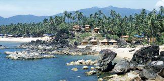 Tropical bay, Palolem beach, Goa, India.