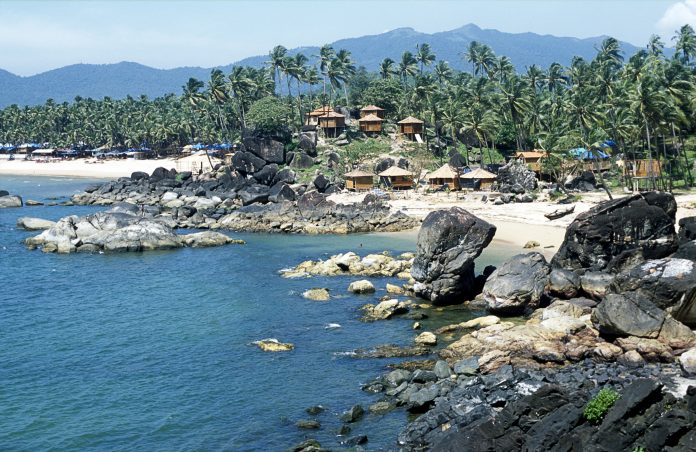 Tropical bay, Palolem beach, Goa, India.